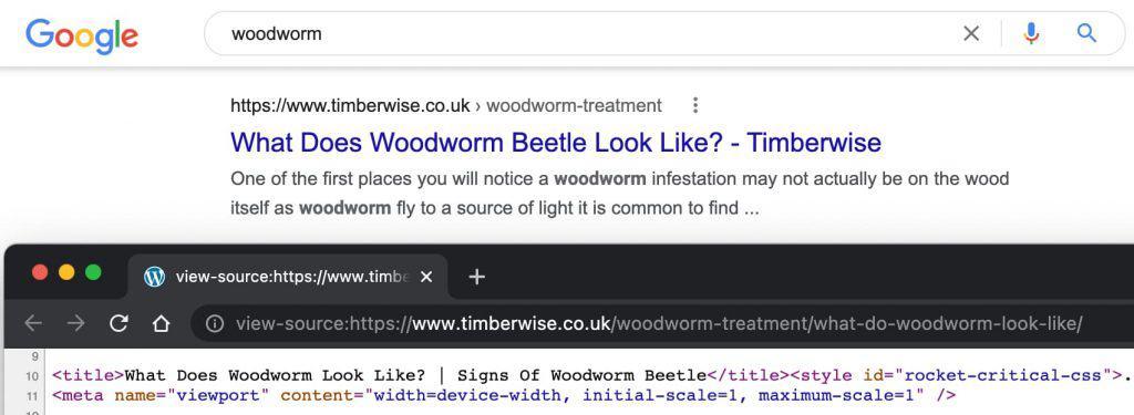 Google reescribe título web